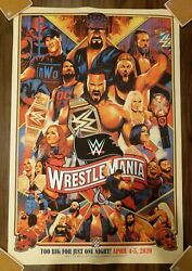 New Wwe Wrestlemania 36 Limited Edition Art Print Poster X/250 Wwf Undertaker