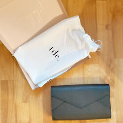 TDE Leather Envelope Clutch Black New in Box $99.99