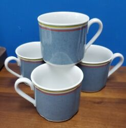 Villeroy And Boch China Switch 1 Pattern Breakfast Cups Set Of 4, 3 X 3-5/8