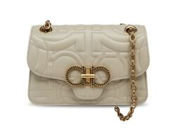 Salvatore Ferragamo Ladies Peony Quilted Gancini Flap Cross Shoulder Bag 21H153 $1599.99