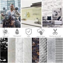 Self Adhesive Wall Sticker Kitchen Cabinet Oil Water Proof Wallpaper Home Decor