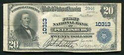 1902 20 The First Nb Of Petersburg Pa National Currency Ch. 10313 Rare