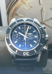 Breitling Superocean Chronograph Blue Dial A13311 42mm Swiss Automatic 200m