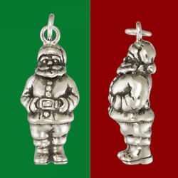 Santa Claus Christmas Pendant Sterling Silver Or Gold Plated