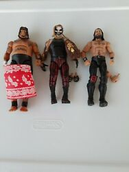 Wwe elite lot Umaga The Fiend Bray Wyatt Rollins look at pics ship in mailer