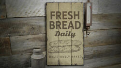 Fresh Bread Vintage Distressed Sign, Personalized Wood Sign