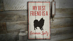 German Spitz Vintage Distressed Sign Personalized Wood Sign