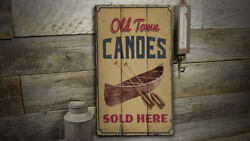 Old Town Canoes Novelty Distressed Sign Personalized Wood Sign