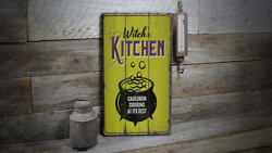 Witchs Kitchen Vintage Distressed Sign, Personalized Wood Sign