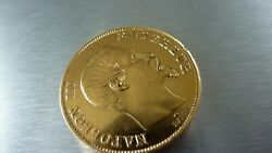 Gold 50 Francs Napoleon Iii 1857 A Uncirculated Beautiful Coin .