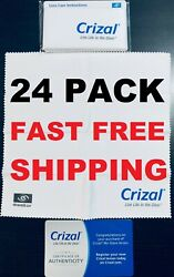 24 Crizal Large Sealed Microfiber Cleaning Cloth Glasses Phone Lens Sunglasses