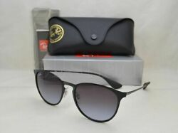 Ray Ban ERIKA METAL RB3539 002 8G 54 Black with Gray Gradient Lens $84.95