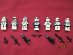 Lego Star Wars Minifigures Lot Captain Rex And Clone Troopers And Weapons