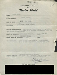 Martyn Green - Typed Resume Signed