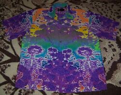 New Vintage The Grateful Dead Skull And Roses Dragonfly Button Dress Shirt Xxl 2xl