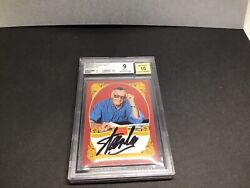 Stan Lee Signed Panini Historic Signatures Autographed Beckett Bgs Mint 9 1b