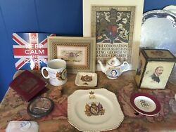 English British Lot Including Antiques And Commemoratives