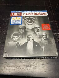 Universal Classic Monsters 6-movie Collection Steelbook [brand New] Blu-ray