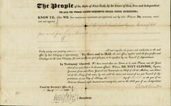 Dewitt Clinton - Civil Appointment Signed 03/26/1822 With Co-signers