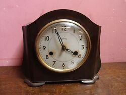 Antique 1930's Bakelite Cased Arts And Crafts Mantle Clock Project