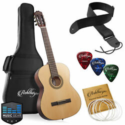 39-in Full-size Classical Acoustic Guitar Classic Natural With Nylon Strings