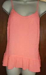 New w Tags Lilly Pulitzer Pink Sun Ray Coral Tank Top Dual Adjustable Straps $24.00