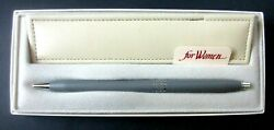 CROSS Women Gray amp; Chrome Ball Point Pen w Box amp; Pen Case $24.95