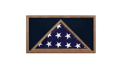 Military Memorial Burial Casket Flag And Award Medal Display Case Shadow Box