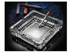 Large Luxury Glass Ashtray For Cigarettes Cigarsbig Ashtray For Smoker 7x7inch