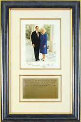 George H.w. Bush - Inscribed Photograph Signed Circa 1982 With Co-signers