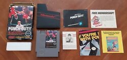 Mike Tysonand039s Punch-out Nintendo Nes Punchout Boxing Game Complete Letter Cib Lot