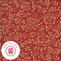 Moda LA ROSE ROUGE 13887 12 Red Beige Floral FRENCH GENERAL Quilt Fabric