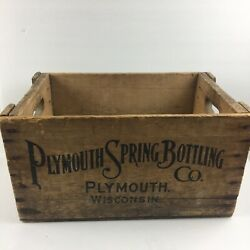 Vintage Plymouth Springs Bottling Company Box Crate Soda Pop Plymouth Wi
