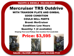 Mercruiser Trs Outdrive Complete Low Hours With Transom Plate And Gimbal Used