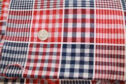 Vintage Woven Plaid Cotton Fabrics Quilt Fabric BTHY 3.5 yards Available