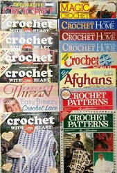 Crochet Magazines MAGIC HOME DECORATIVE WORLD w HEART HERRSCHNERS *You Choose