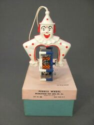 Vintage Collectible Spunky Stahlwood Toy Plastic Baby Rattle Ferris Wheel In Box
