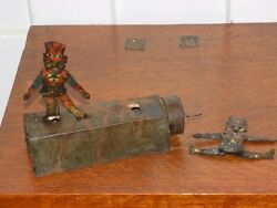 Vintage Tin American African American Crank Toy