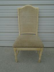 Faux Bamboo Dining Chair Aloha Dixie Hollywood Regency Desk Vanity Cane Wicker