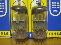 2x Vintage Rft Ecc85 / 6aq8 / 6l12 / 12at7 Double Triode New, Nos, Boxed 70-s
