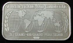 1986 Silver World Trade And Commerce Us Silver Corp 1oz 999 Fine Bar