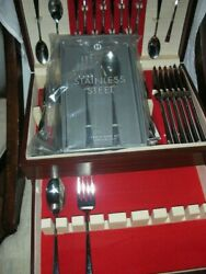 Hotel Collection Stainless Steel Flatware Set Of 12 + More Serving Pieces