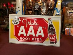 New Old Stock Aaa Root Beer 57 Tin Embossed Tin Advertising Sign Watch Video