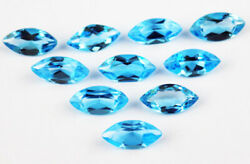 Natural Swiss Blue Topaz Marquise Faceted Cut Loose Gemstone Lot Aaa Quality