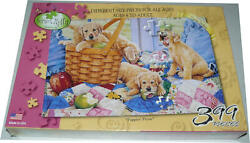 New Serendipity 399 Piece Puzzle Puppies Picnic Dogs Family Size Susan Brabeau