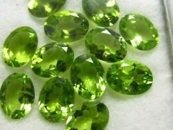 Natural Green Peridot Oval Faceted Cut Loose Gemstone Lot Aaa Quality