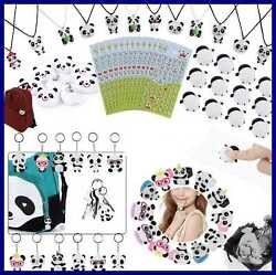 84 Pack Panda Party Supplies Favors Goodie Bags Squishy Toys Gift For Kids Bear