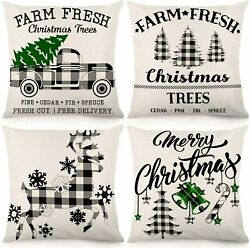 CDWERD Christmas Pillow Covers 18x18Inches Decorations Black...