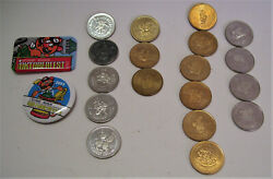 18 Oktoberfest Kitchener Canadian One And Two Dollar Coins Expired Trade Tokens
