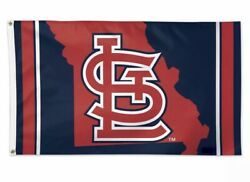 St. Louis Cardinals-mo State-3'x5' Deluxe Outdoor Flag-mlb